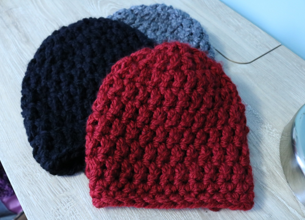 Free crochet pattern - chunky beanie video tutorial and written pattern. Tutorial is perfect for beginner crocheters of all ages.