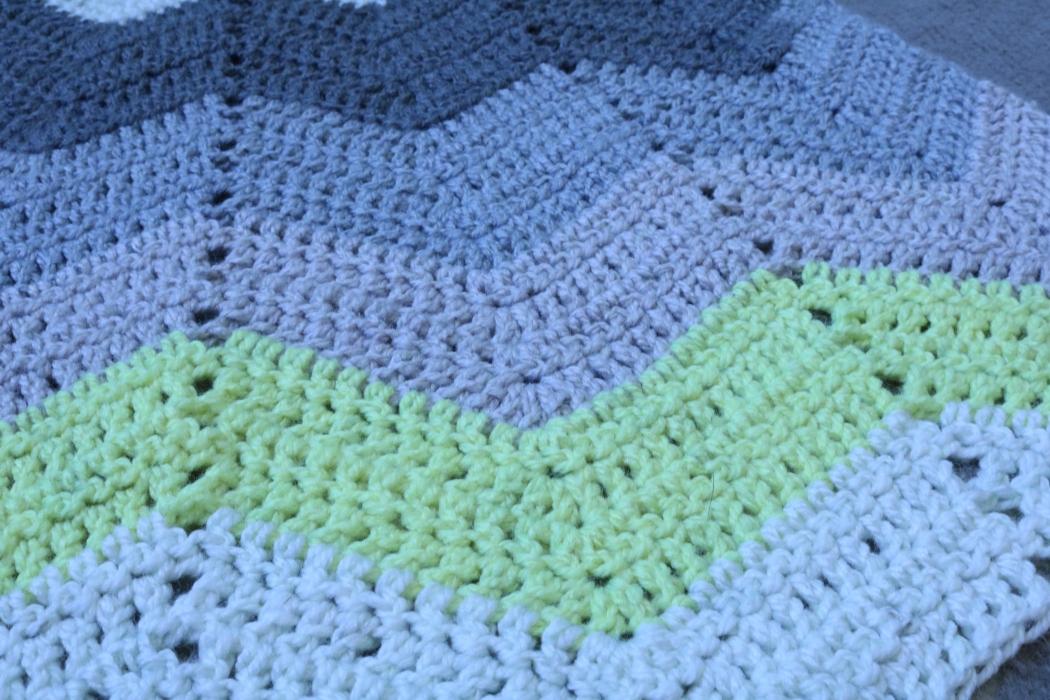 Crocheted Chevrons - Caron Cakes