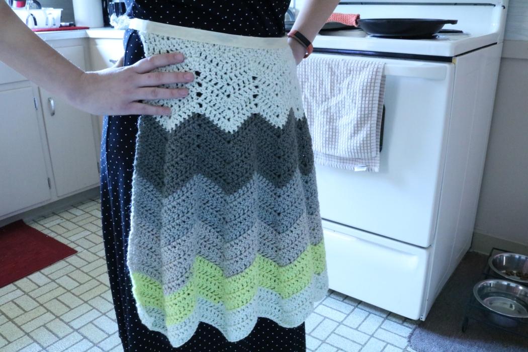 1950s Inspired Crochet Apron
